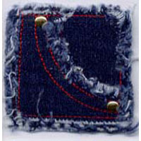 "2"" Denim Stash Pocket - Applique"
