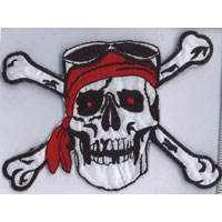 Pirate Skull and Crossbones Applique - Applique