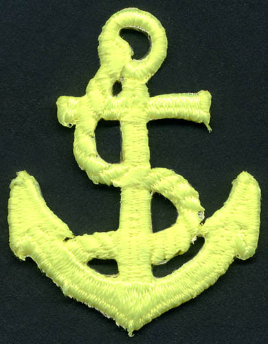 60mm Anchor Patch-Neon Yellow - Applique