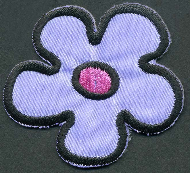 "1.5"" Rayon Daisy Patch-Lavender/Pink - Applique"