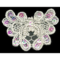 "3.25"" Sequin and Beaded Floral Applique - Applique"