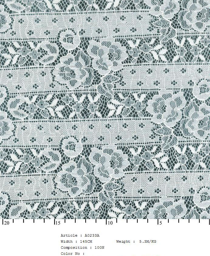 "58/60"" Embroidered Floral Rose Fabric on Net-White - All Over Fabric"