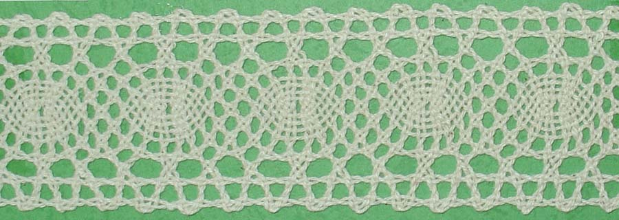 "1 5/8"" Cotton Cluny Galloon Lace-Natural - Cluny Lace"