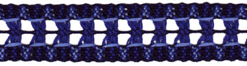 "1 3/16"" Cotton Cluny Interval Galloon Lace-Blue Multi - Cluny Lace"