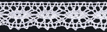 "1 3/16"" Cotton Cluny Ciardi Edge Lace-White - Cluny Lace"