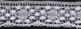 "1 3/16"" Cotton Cluny Edge Lace-White - Cluny Lace"