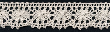 "1 3/16"" Cotton Cluny Ciardi Edge Lace-Natural - Cluny Lace"