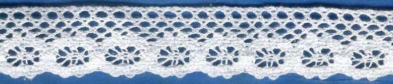 "1 3/8"" Cotton Cluny Wheels Edge Lace-White - Cluny Lace"