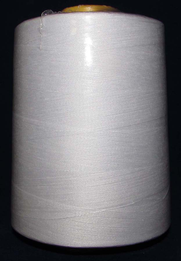100% Spun Poly T27 (240 gram cone) Sewing Thread-White - 240 Gram Cone