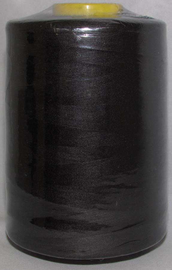 100% Spun Poly T27 (240 gram cone) Sewing Thread-Black - 240 Gram Cone