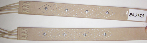 Faux Leather Belt With Nailheads Example-V-1352-AA2153-1 - Belts