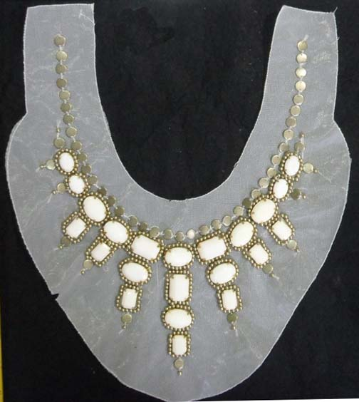 "15"" X 11"" Arcylic Stone On Mesh Collar"