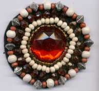 "2+3/8"" Heat-Seal Rhinestone and Bead Applique"