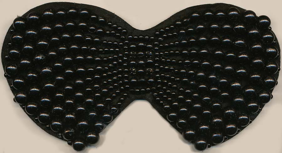 "4"" Sew-on Beaded Bowtie-Black"