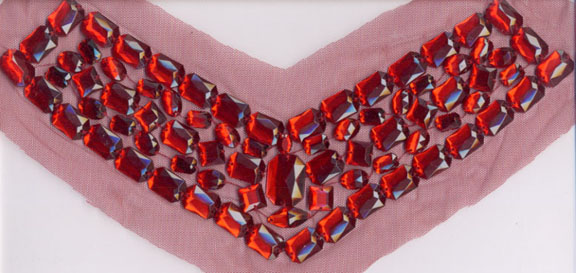 "11"" Acryic Stone On Mesh Collar-Red"