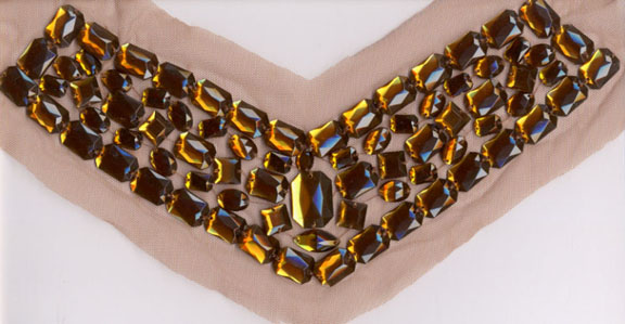 "11"" Acryic Stone On Mesh Collar-Brown"