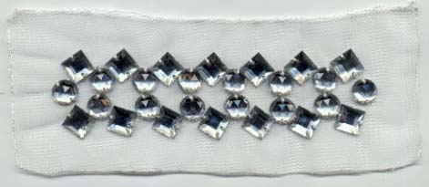 "4.75"" x 1.25"" Rhinestone Applique"