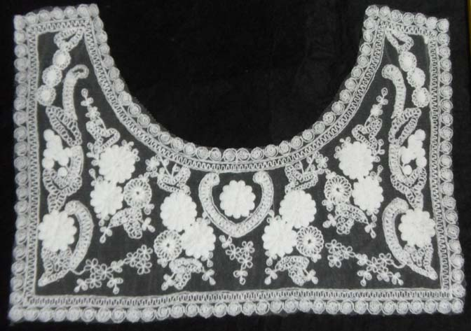 Embroidered Yoke-White