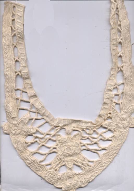 Embroidered Cotton Yoke-Natural
