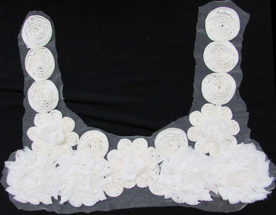 "12"" Re-Embroidered Collar-Raw White"