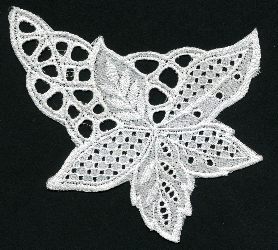 "5+1/2"" Cotton Eyelet Applique-White"