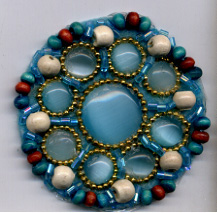 "2"" Heat-seal Moon Stone and Wood Circle Applique"