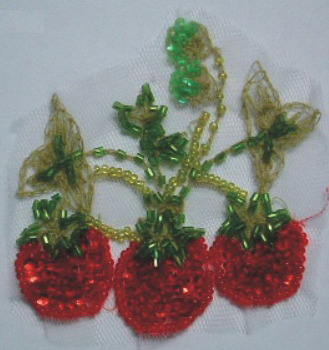 80mm Beaded Triple Cherries