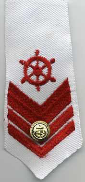 "5.5"" x 2.25"" Nautical Applique White and Red"