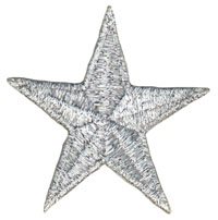 45mm Mylar Star Applique Silver