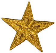 45mm Mylar Star Applique Gold