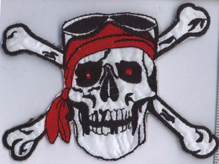 Pirate Skull and Crossbones Applique