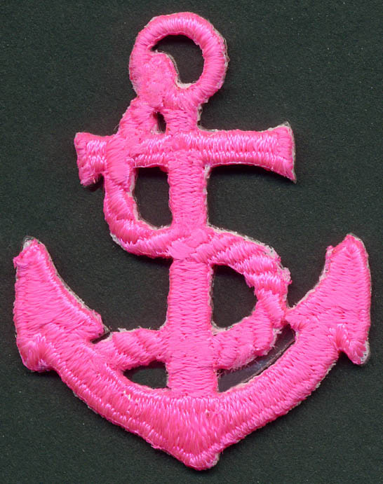60mm Anchor Patch-Neon Hot Pink