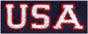 "1.5"" x 4"" Heat-Seal Chenille USA Letters"