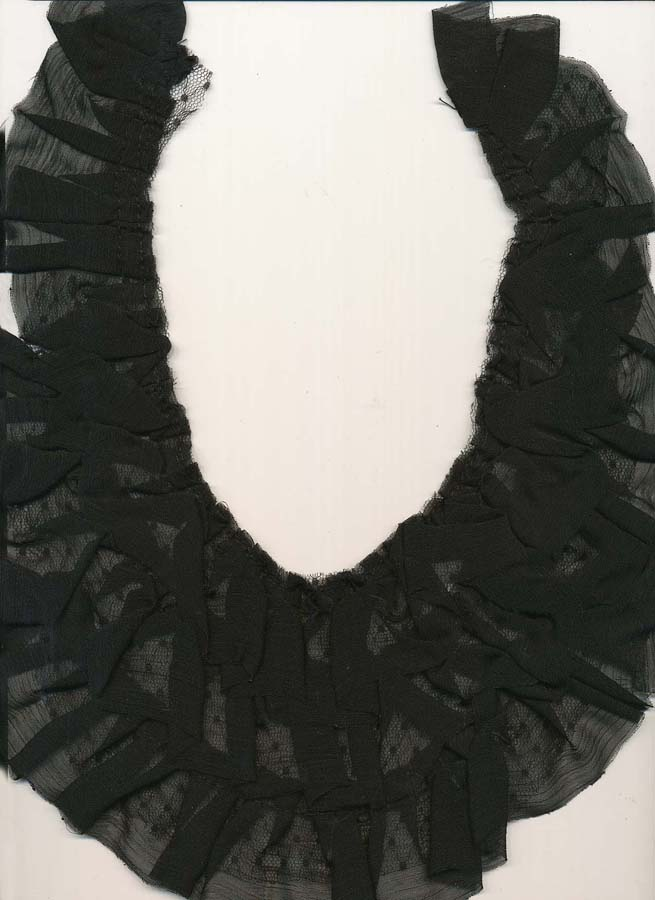 "10.5"" x 8"" 3 Row Sheer Ruffle Yoke-Black"