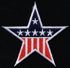 USA Felt Stars and Stripes Applique