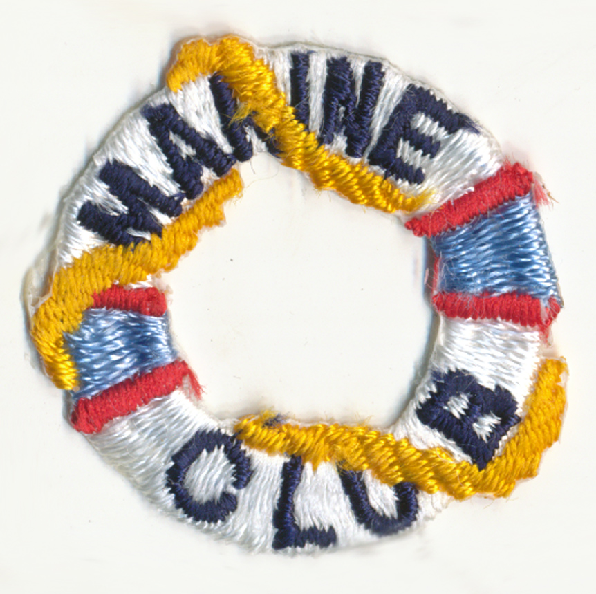 "1+1/2"" X 1+1/2"" Marine Club Patch-White/Gold/Blue (Heat Seal)"