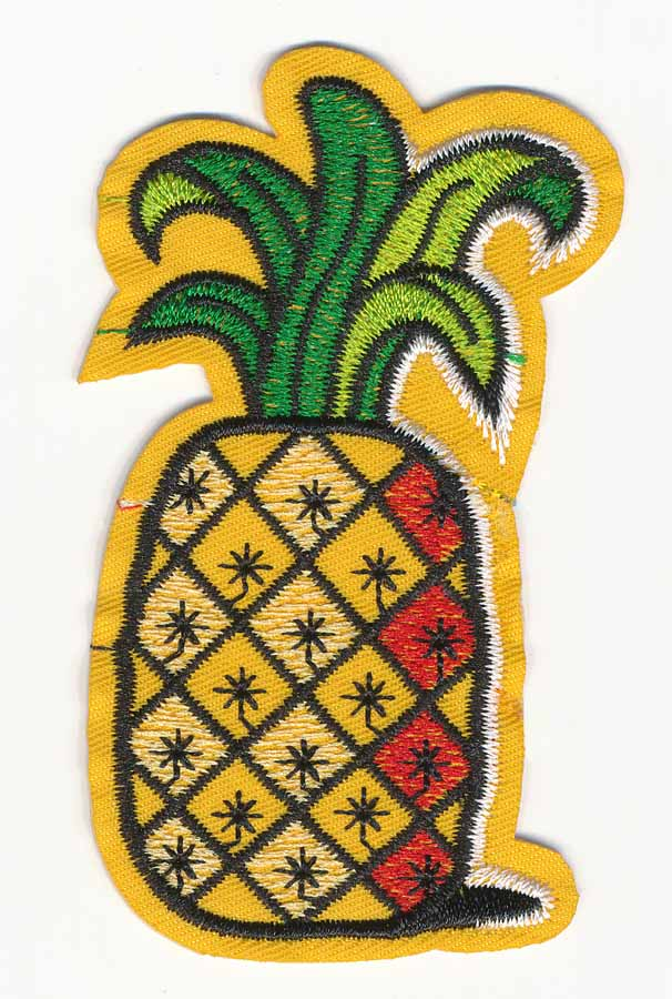 "3/4"" x 2"" Pineapple Patch With Heat Seal-Yellow/Black/Green"