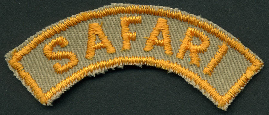 Safari Patch Applique-Yellow Gold