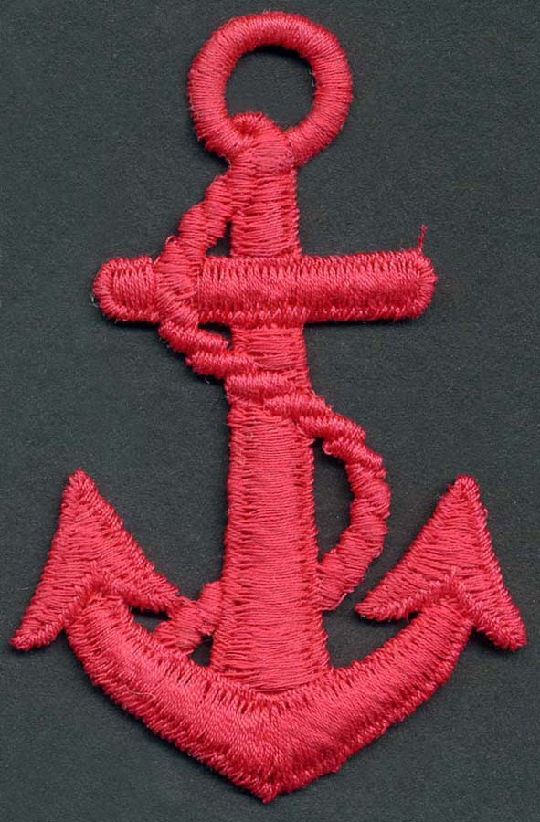 Large Anchor Applique-Red