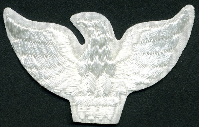 Eagle Patch Applique With Heat Seal-White