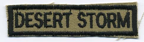 "2"" Desert Storm Patch-Khaki (Heat Seal)"