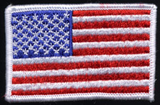 "2"" x 3"" American Flag Applique"