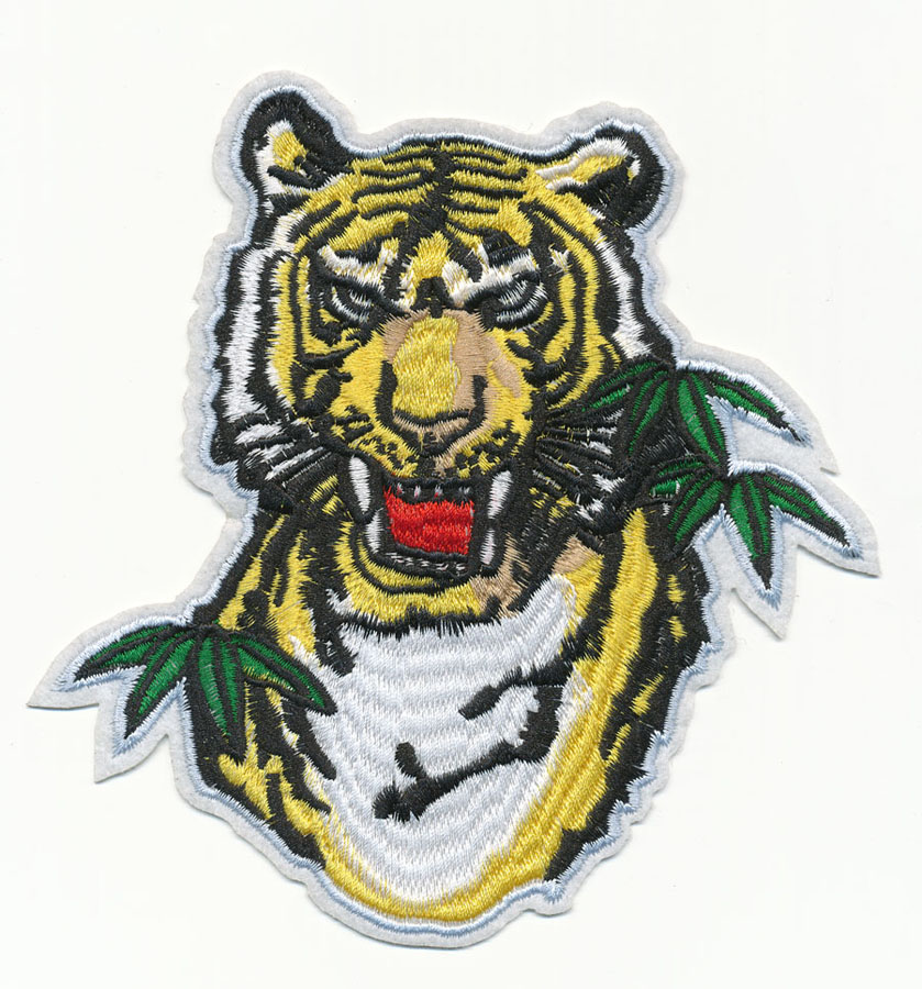 "4"" x 5+7/8"" Tiger with Bamboo Leafs-Yellow/Green/White"