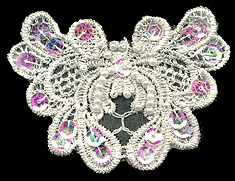 "3.25"" Sequin and Beaded Floral Applique"