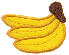 "3"" Rayon Bananas Applique"