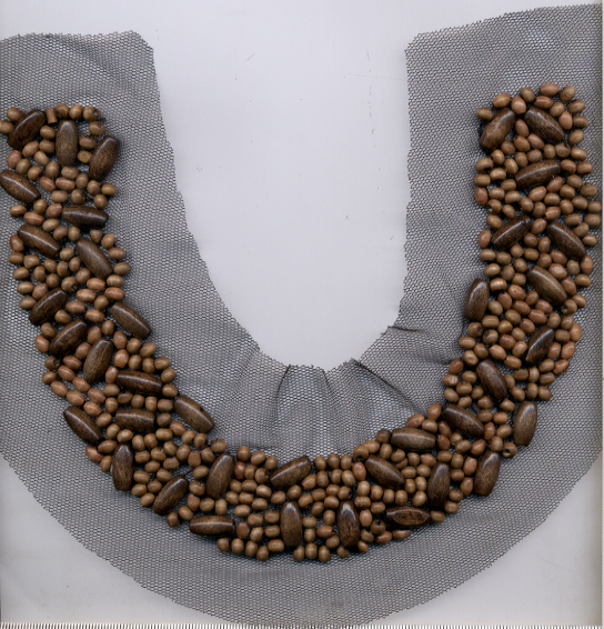 "10"" Wood Bead Collar"