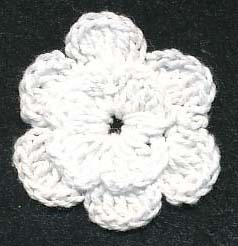 "1+9/16"" Crochet Flower-White"