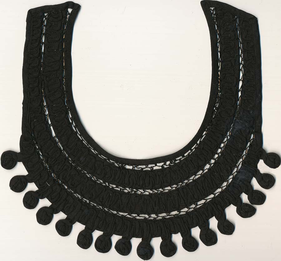 "10.5"" Crochet Braid Collar-Black"