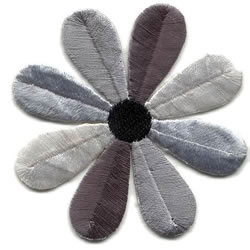 Daisy Applique-Grey Combo