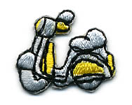 "1"" Scooter Applique-Grey/Yellow/Black Combo"